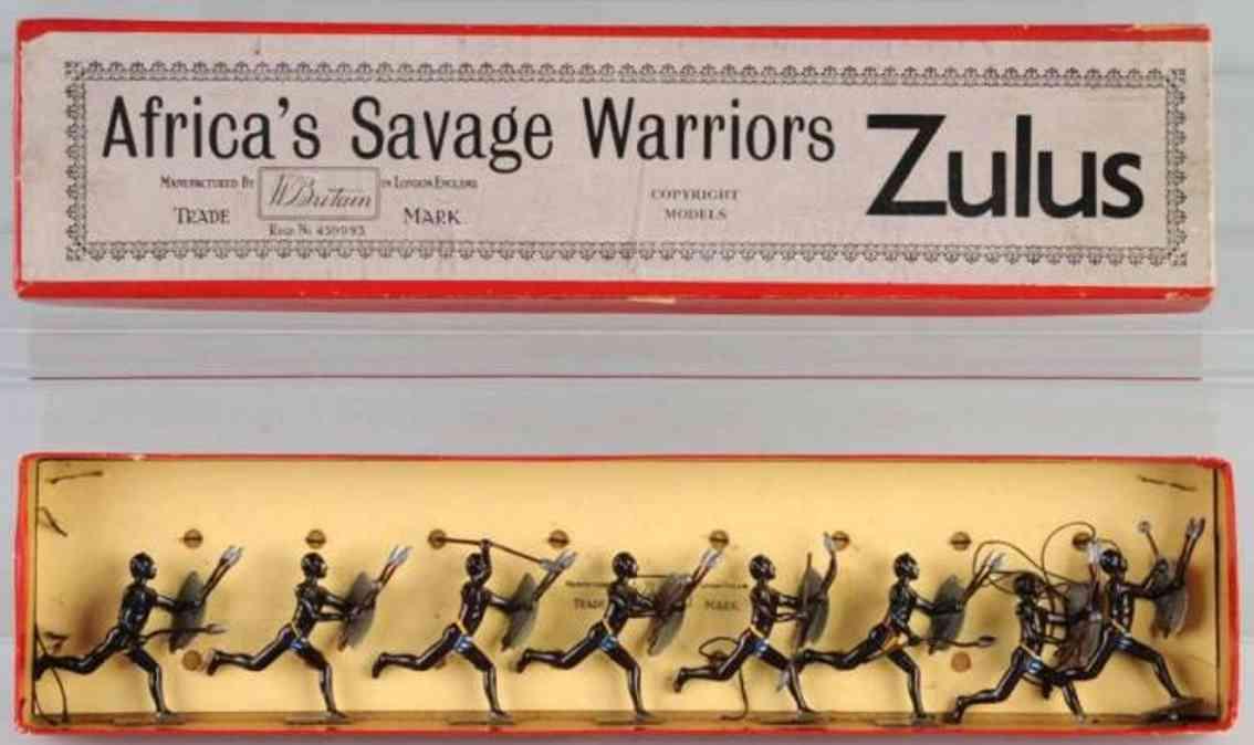 Britains Ltd. Toy 147 Set aus Zulu Krieger