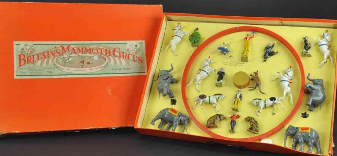britains ltd toy 1539 blech spielzeug set mammut-zirkus