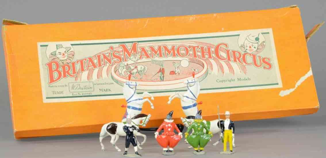 britains ltd toy 2054 blech spielzeug mammut zirkus set figuren tiere