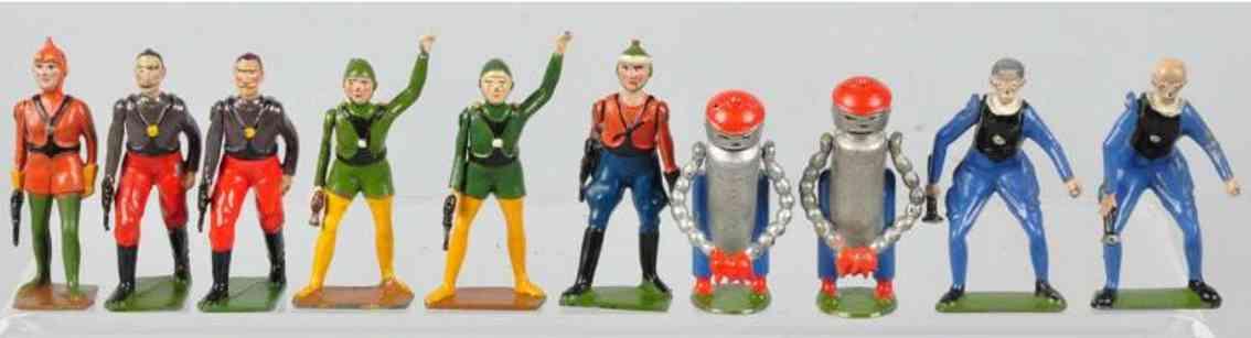 Britains Ltd. Toy Britains Buck Rogers Premium figures of diecast