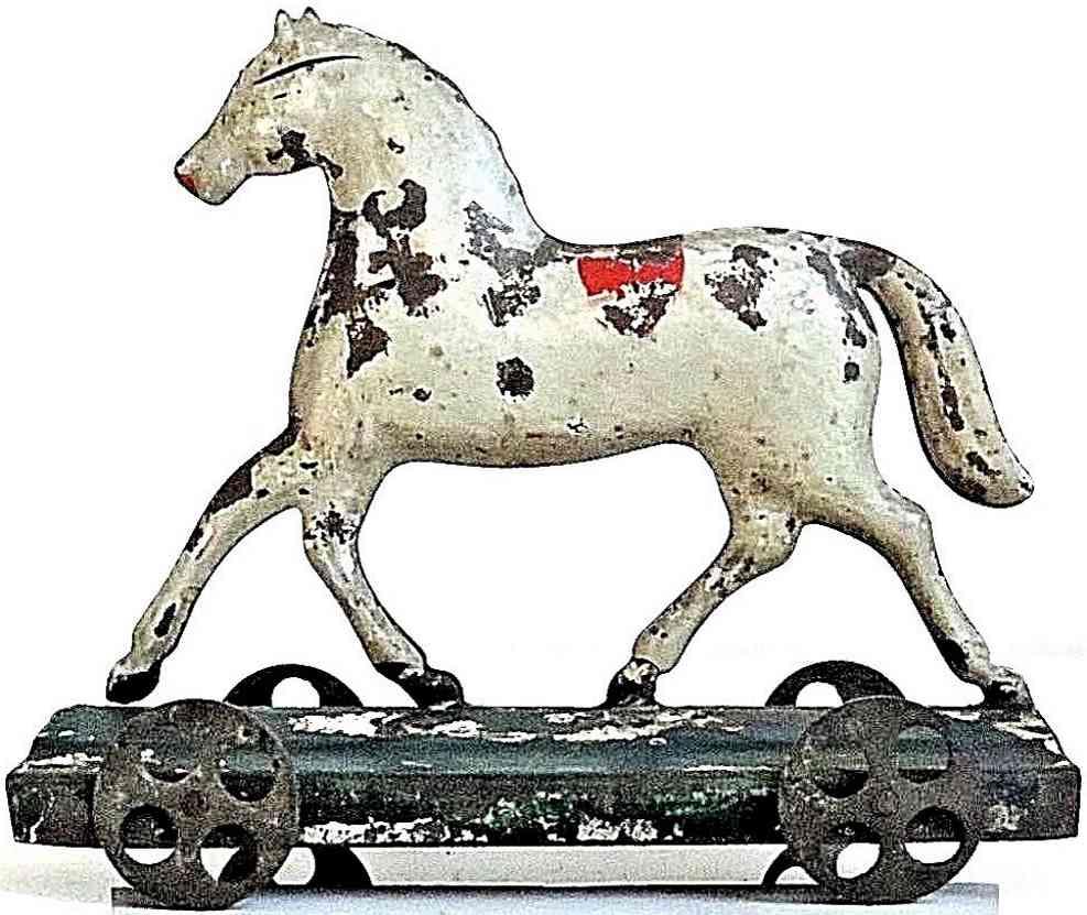 brown george Horse 4 blech spielzeug pferd aus plattform aus blech, elegantes design, bemalt in w