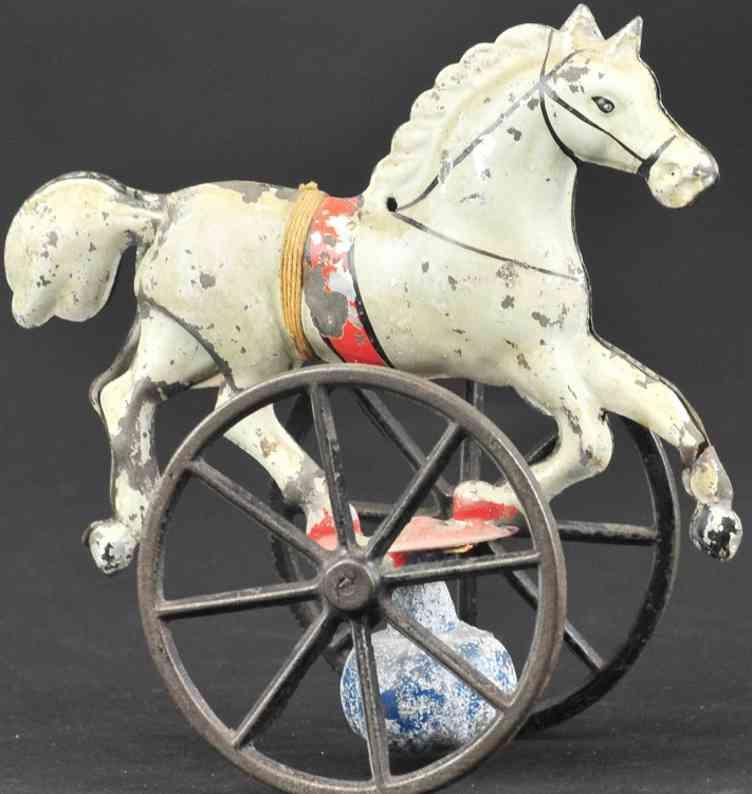 brown george blech spielzeug balancierendes pferd