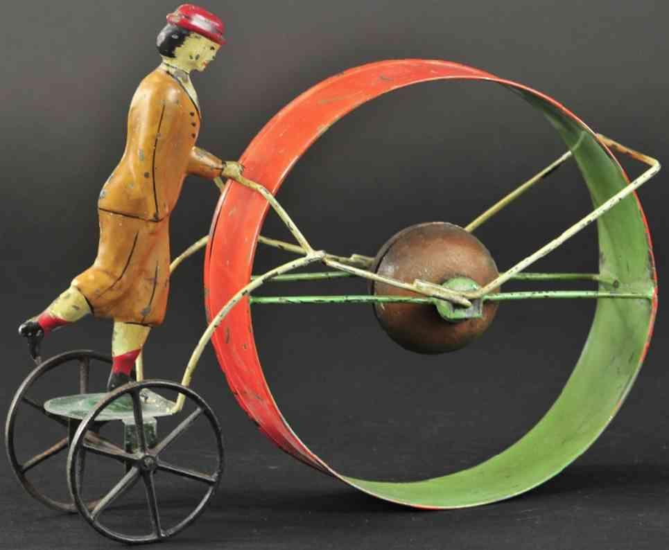 brown george blech suffragette mit reifen als glockenspielzeug