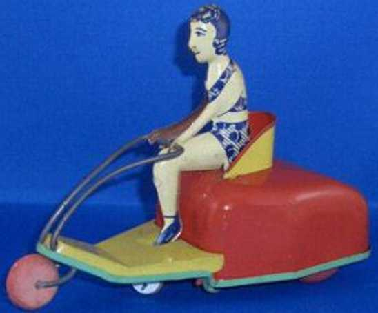 Buffalo Toys  vintage Tin Wind-Up Motorcycle Scooter