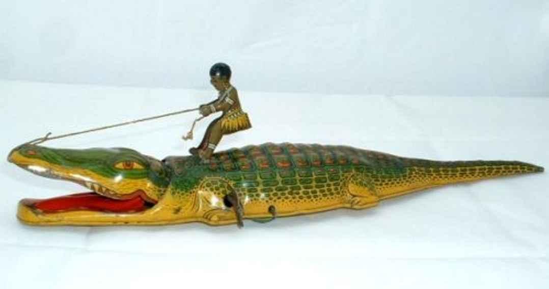 chein co 140 blech spielzeug krokodil eingeborener uhrwerk