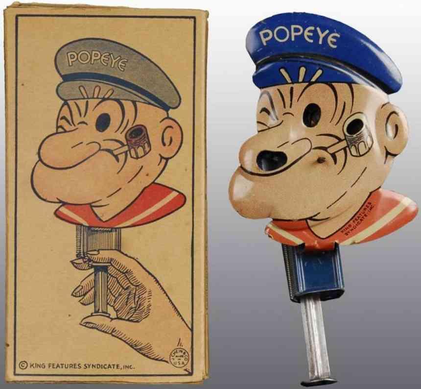 chein co 251 blech spielzeug popeye als wunderkerze. hergestellt von j. chein & company.