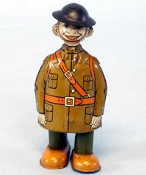Chein Co. 87  Walking soldier lithographed tin