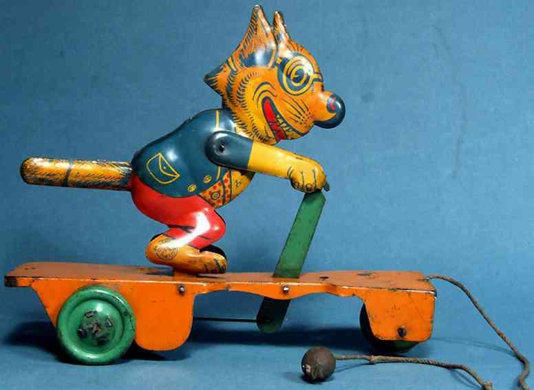 Chein Co. 363/1 Felix der Kater auf einem Roller