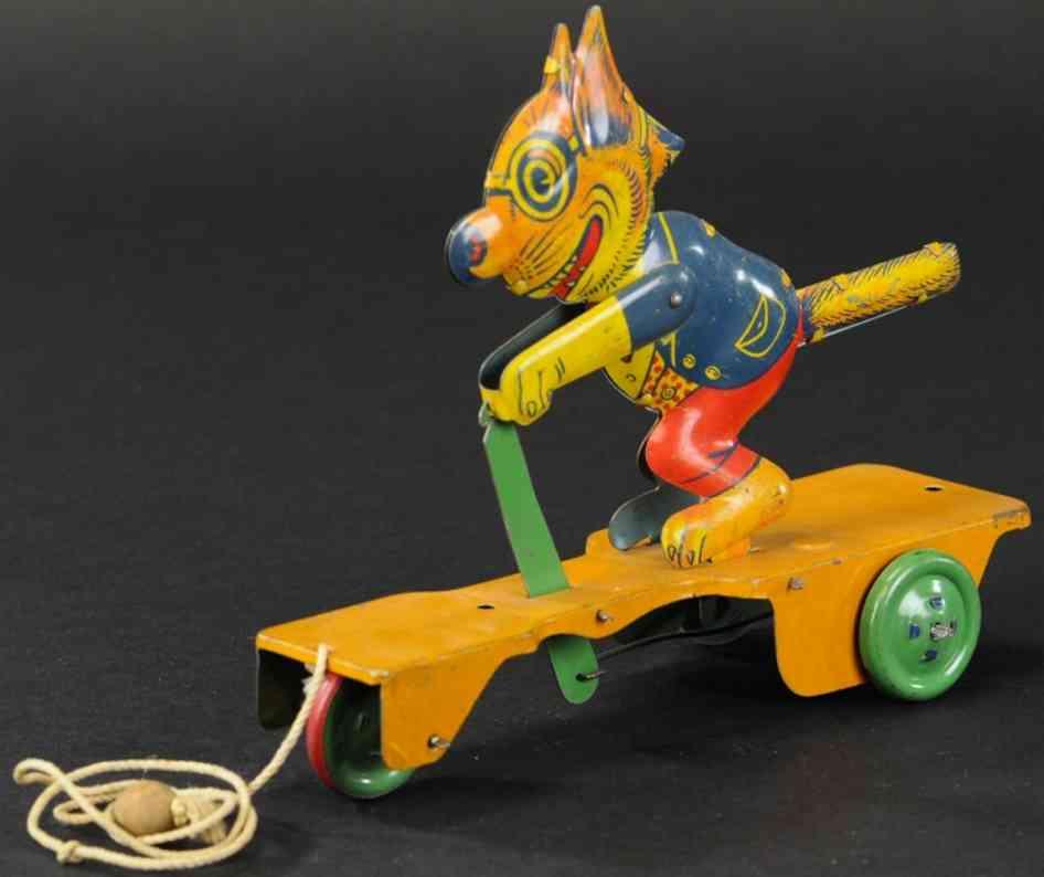 chein co blech spielzeug typische komische katze ziehspielzeug