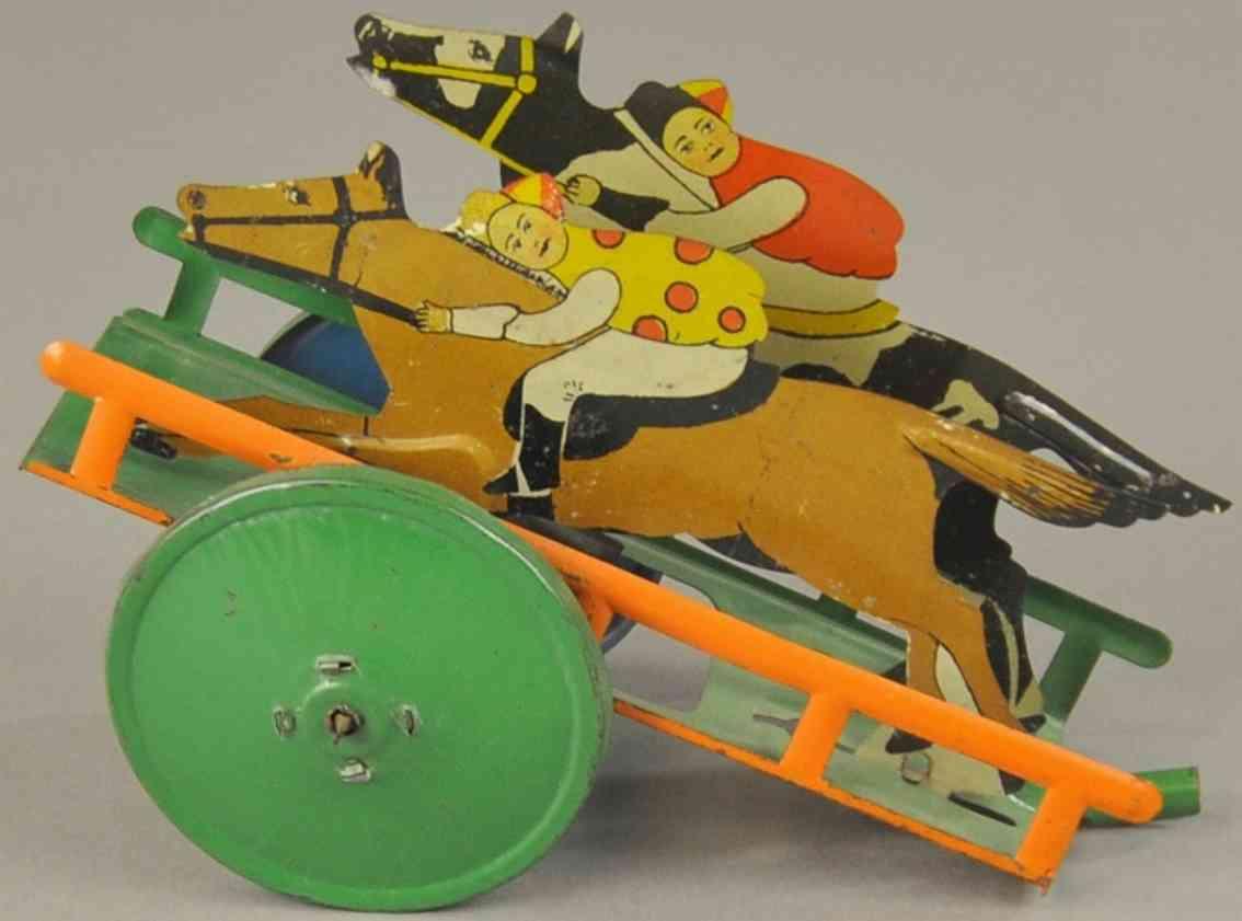 chein co blech gelenkiges pferdrenn-ziehspielzeug
