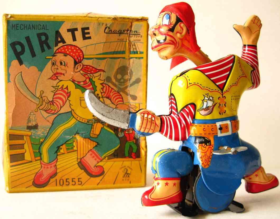 cragstan 10555 tin toy pirate with sword nikuni