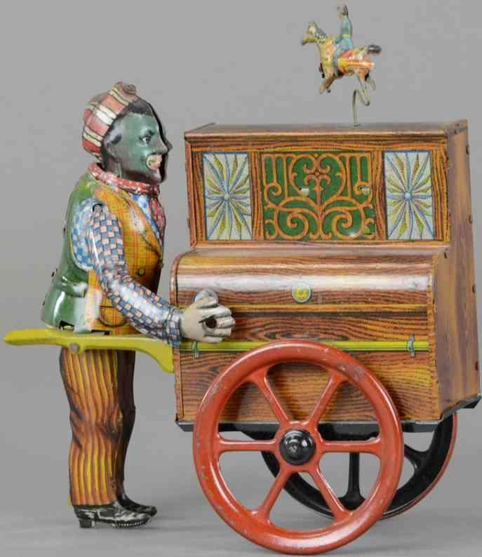 distler blech spielzeug orgelspieler  tanzfigur