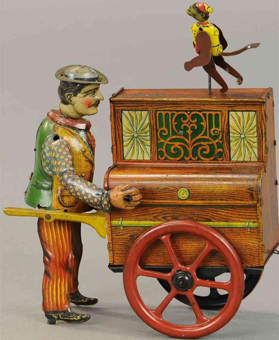 distler blech spielzeug orgelspieler affe