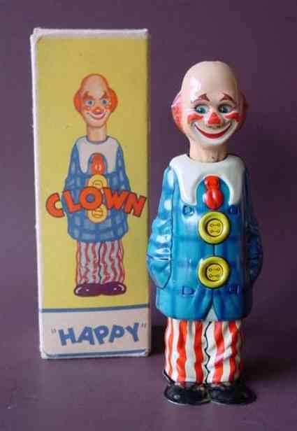 distler blech spielzeug happy clown uhrwerk
