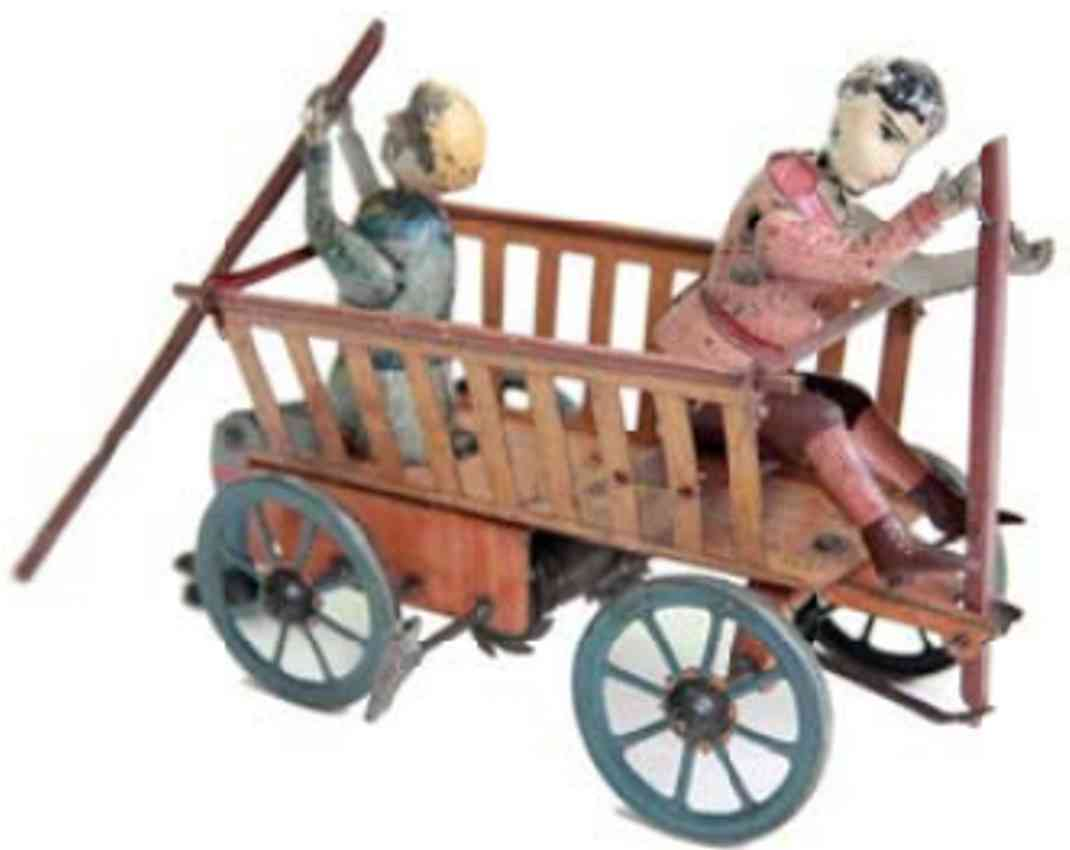 eberl hans tin toy motor vehicle with clockwork driver and passenger