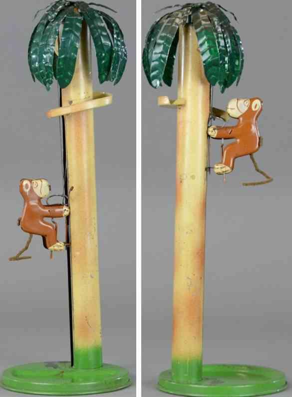 emporium specialty co blech spielzeug affe klettert an palme hoch