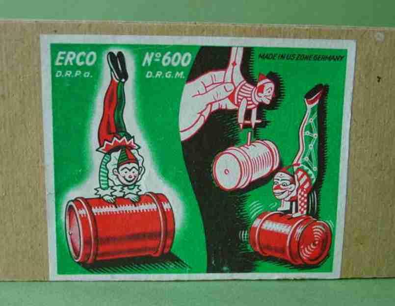 Leonhard Erdel 600 Clown on barrel with clockwork