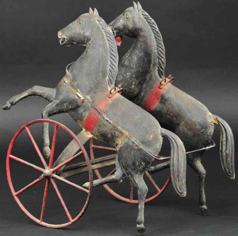 fallows blech spielzeug zwei pferde gelenken ziehspielzeug patent whittaker