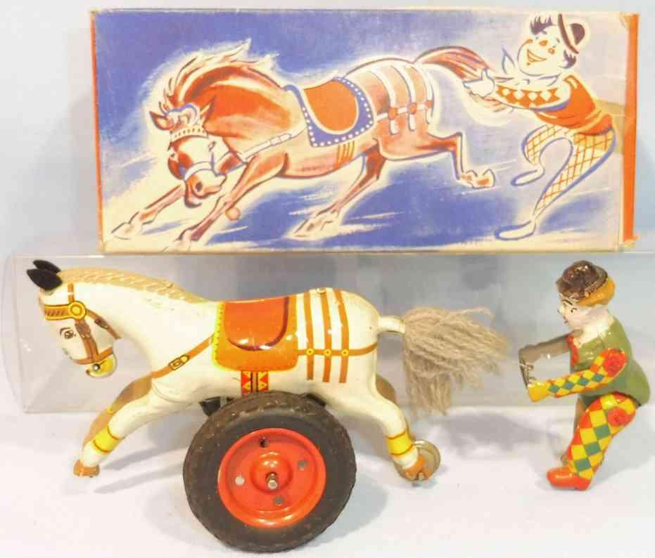 gama 41 blech holz spielzeug clown pferd mit clown