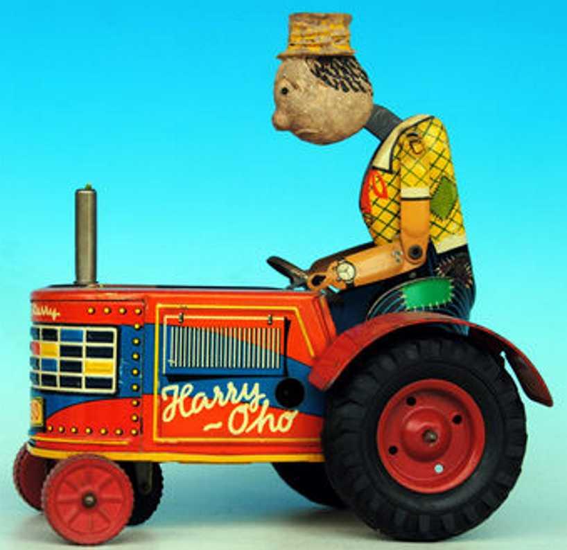 gama blech spielzeug clown funny harry oho traktor