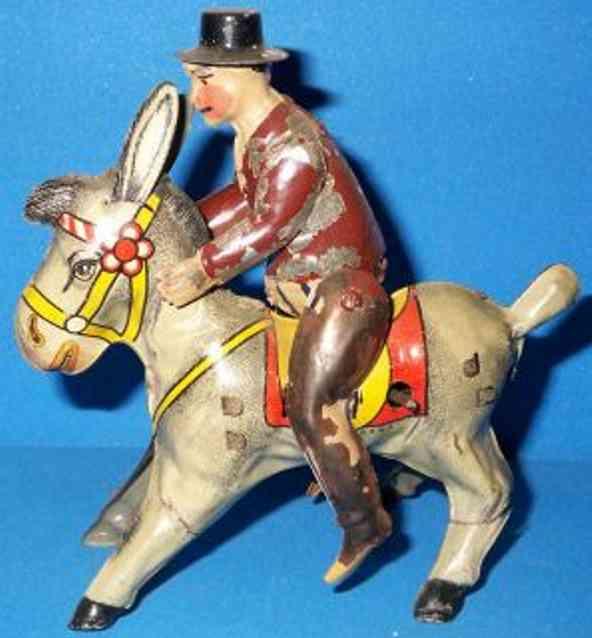 GAMA Reiter auf Esel mit Uhrwerk