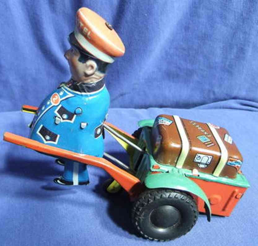 geiger hans tin toy porter with cart