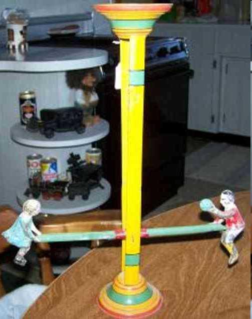gibbs blech spielzeug wippe mit zwei kindern