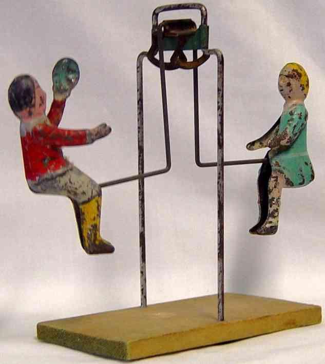 gibbs blech schaukelspielzeug zwei kinder