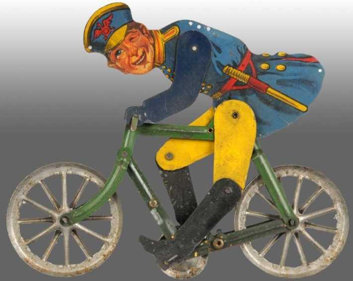 gilbert blech spielzeug polizist auf fahrrad