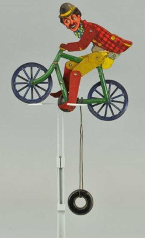 gilbert blech spielzeug hobo balancierspielzeug  mann auf fahrrad