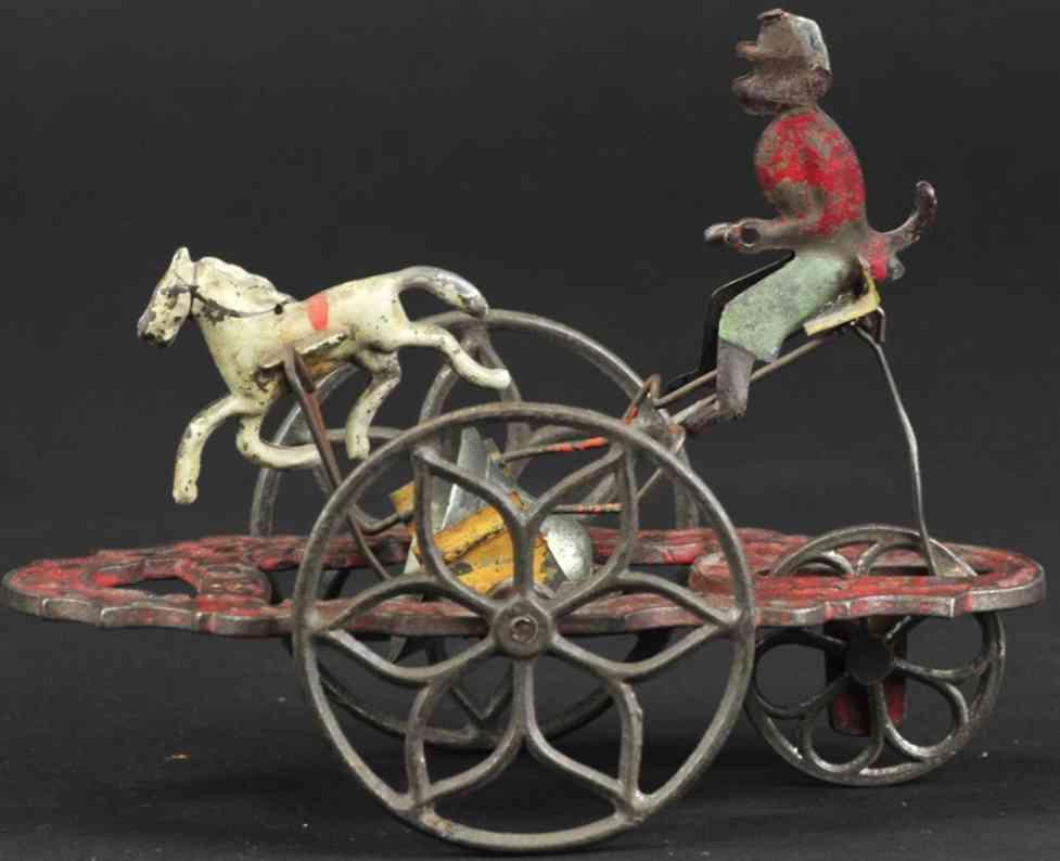 gong bell 23 gusseisen affe und pferd als glockenspielzeug