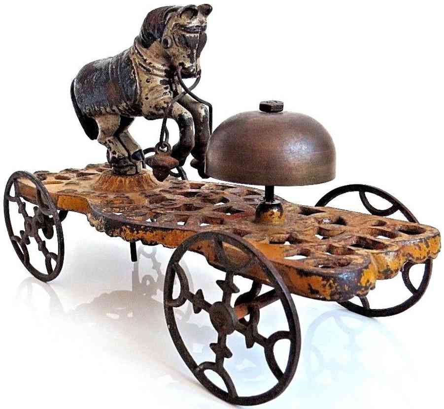 gong bell 30 cast iron toy trick pony bell ringer