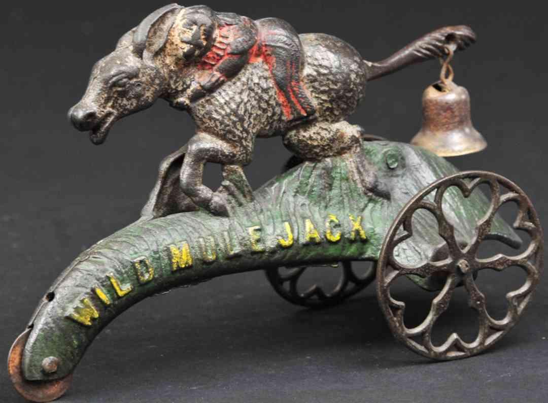 gong bell 36 spielzeug gusseisen jack auf wildem esel mit glocke