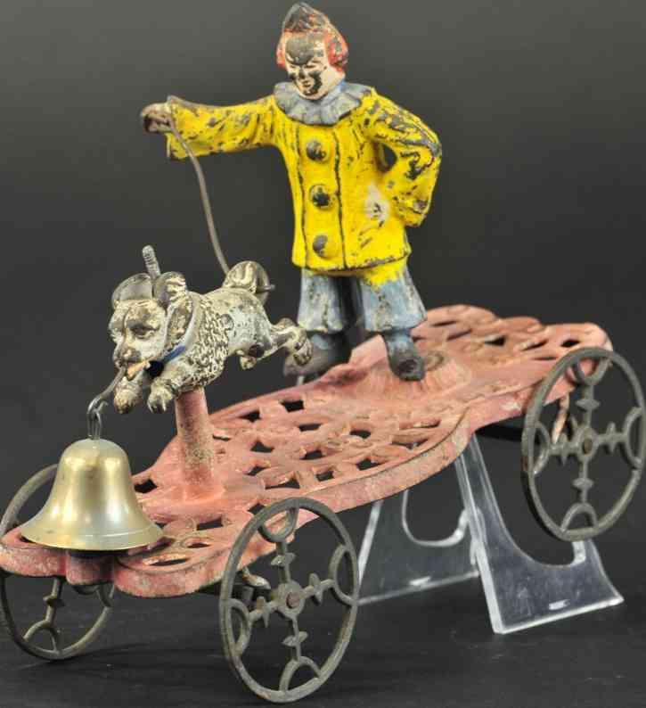 gong bell 43 gusseisen pudel clown in gelb als glockenspielzeug