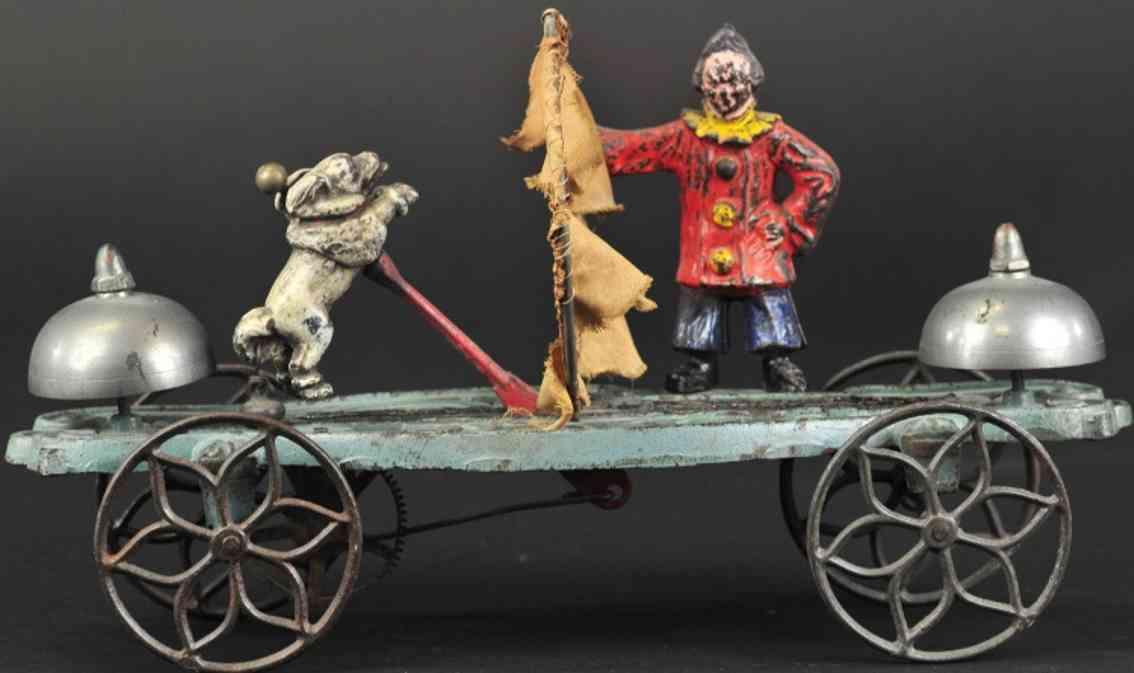gong bell 44 spielzeug gusseisen clown und pudel als glockenspielzeug