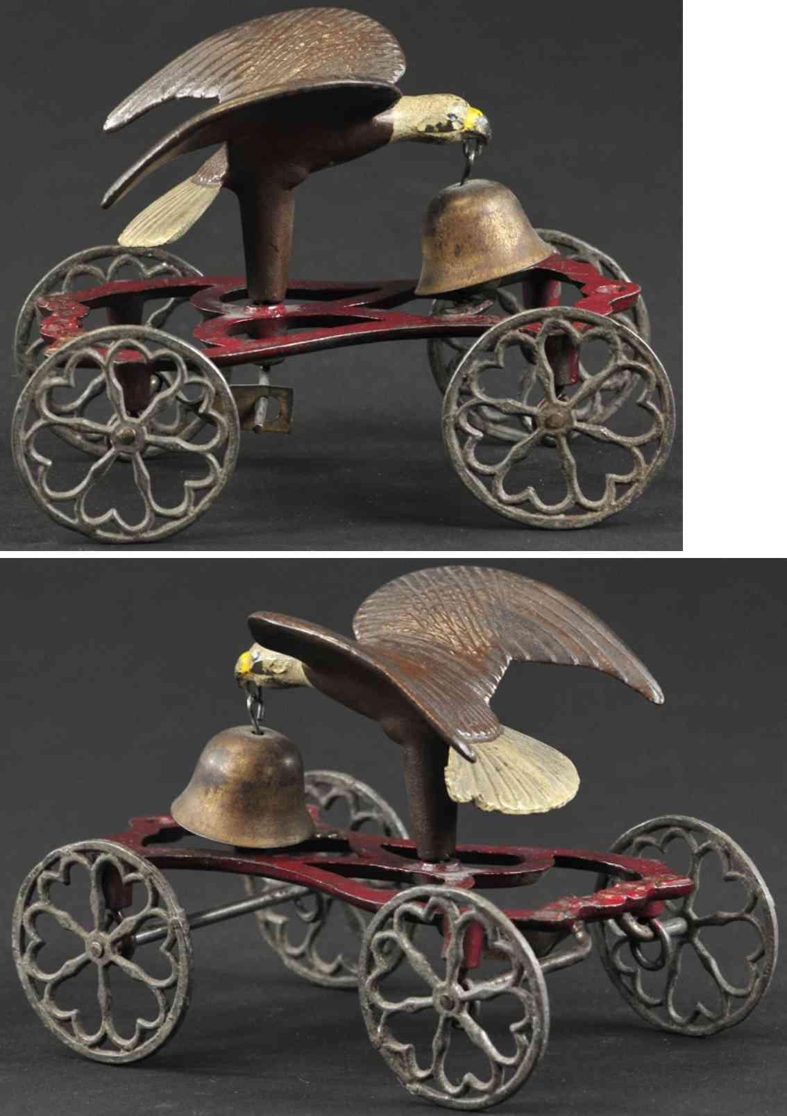 gong bell 50 spielzeug gusseisen adler als glockenspielzeug