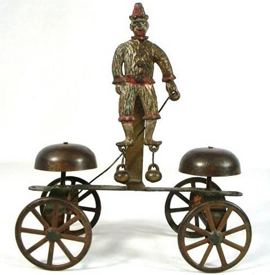 Gong Bell cast iron Clown ringer bell toy