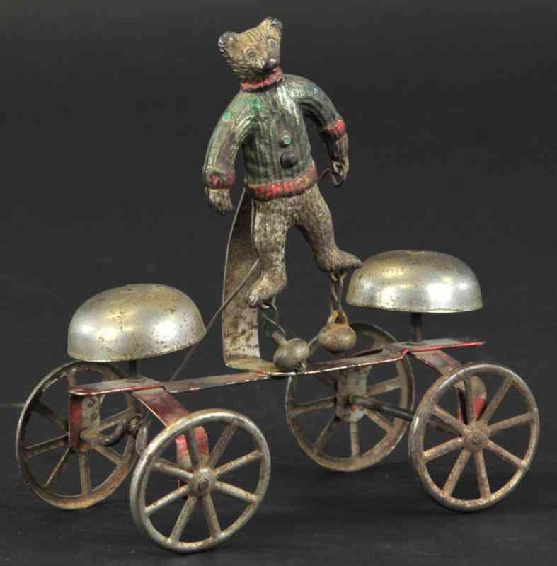 gong bell cast iron teddy bear bell toy