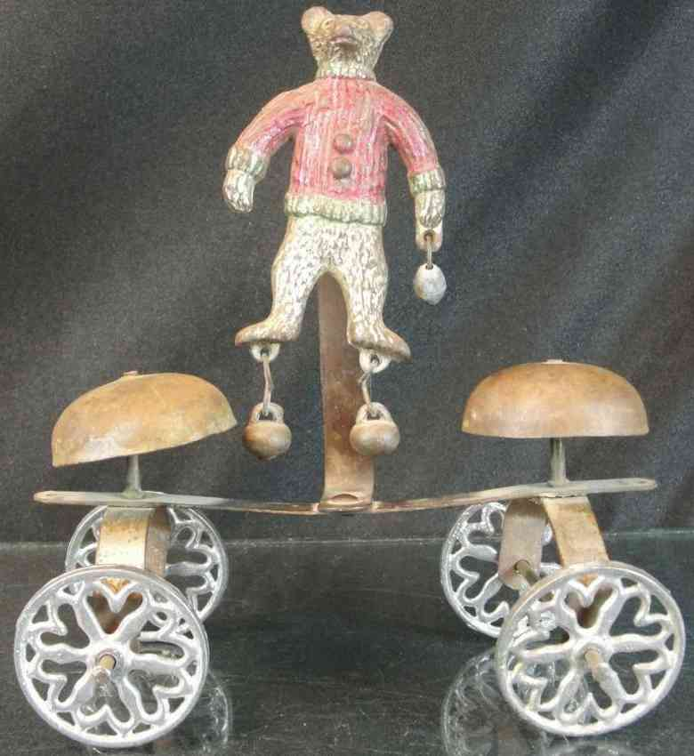 gong bell gusseisen teddy baer als glockenspielzeug