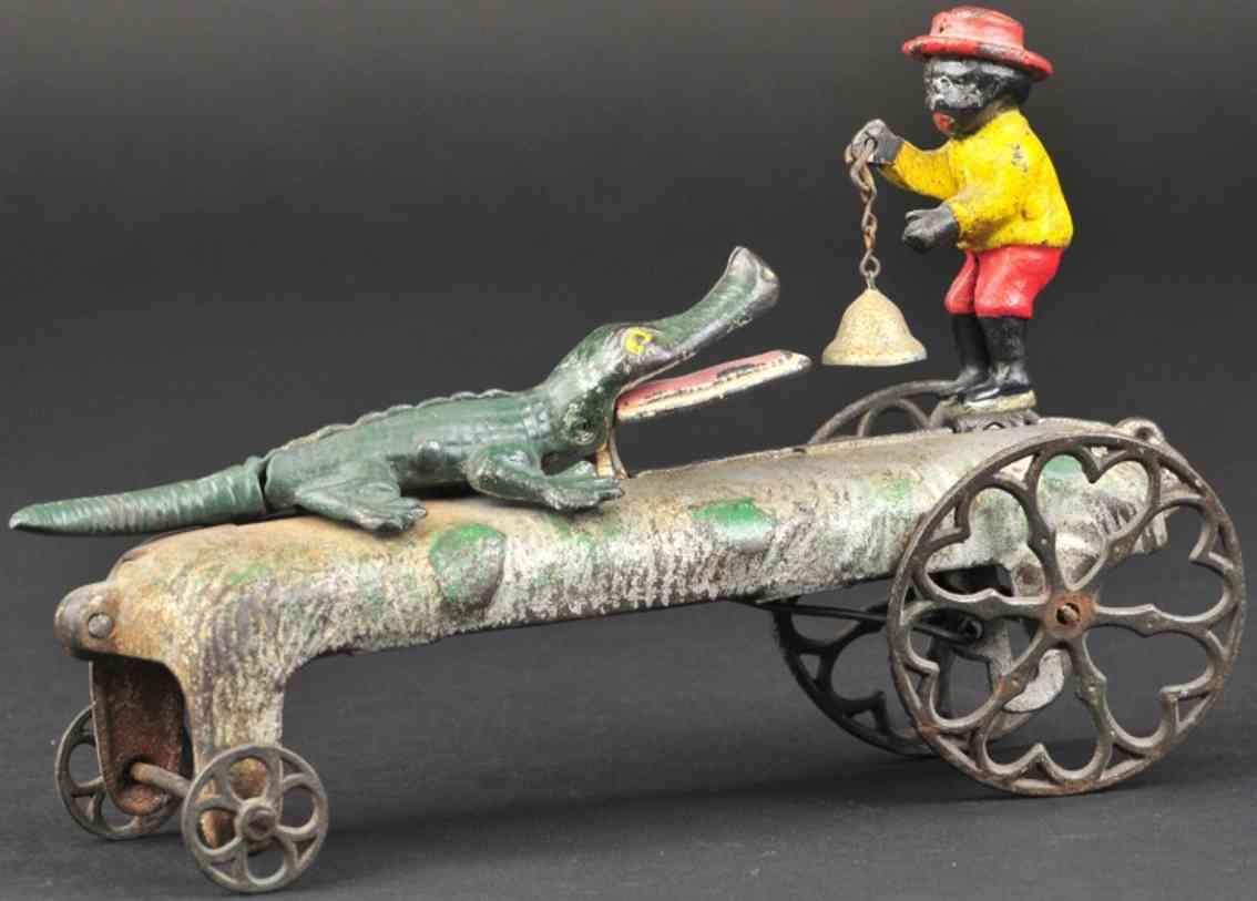 gong bell gusseisen schwarzer und alligator als glockenspielzeug