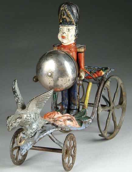 gong bell cast iron drummer boy bell toy uniformed soldier
