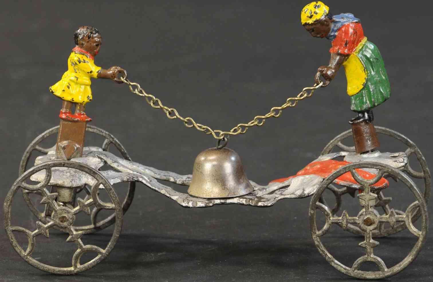 gong bell 59 spielzeug gusseisen rastus und seine mutter