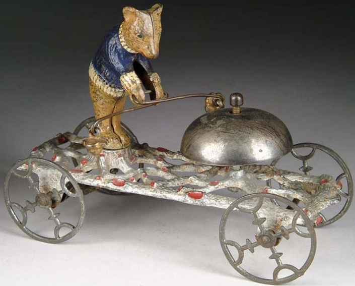 gong bell gusseisen figur teddybaer plattform glockenspielzeug