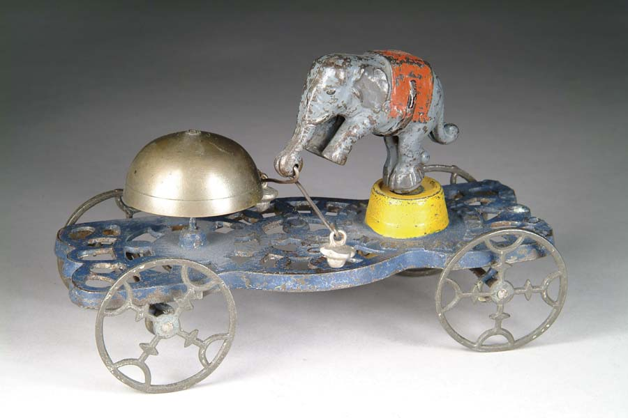 gong bell 40 spielzeug gusseisen trick elefant glockenschlaeger