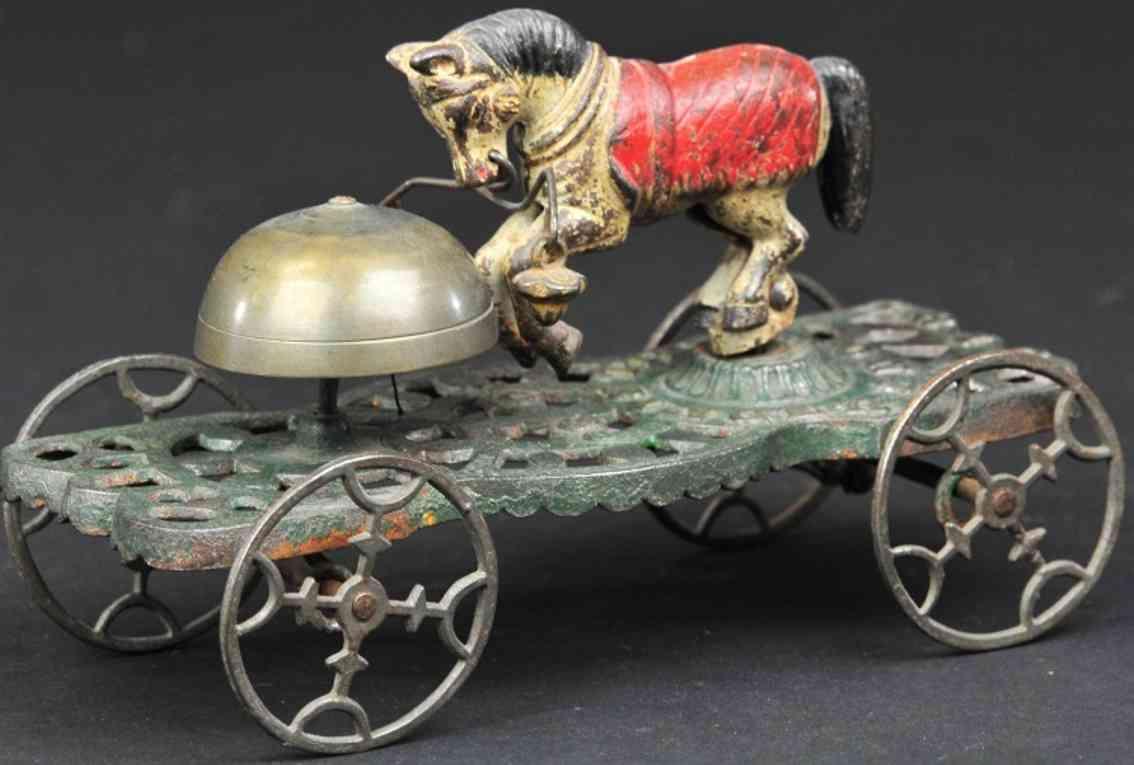gong bell 39 gusseisen trick pony als glockenspielzeug rote decke