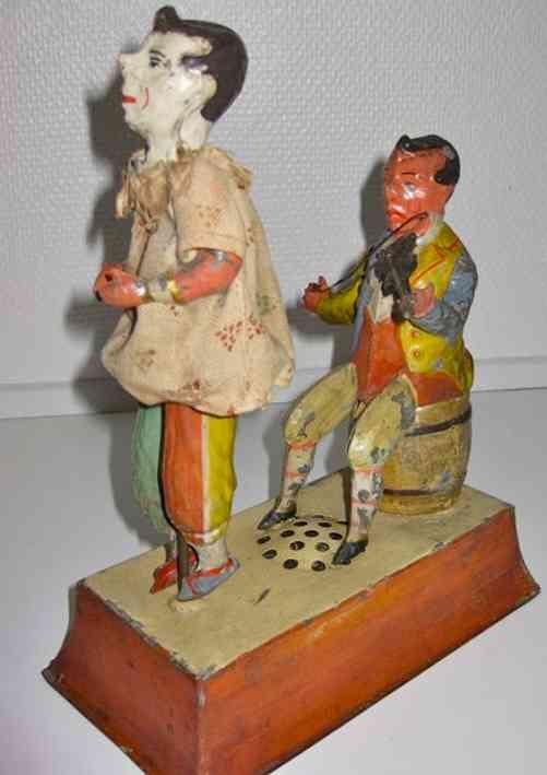 Günthermann Geiger mit tanzendem Clown und Uhrwerk