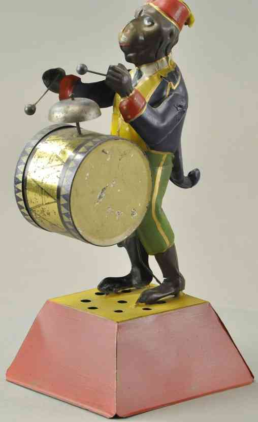 guenthermann tin toy tin monkey drummer cymbal