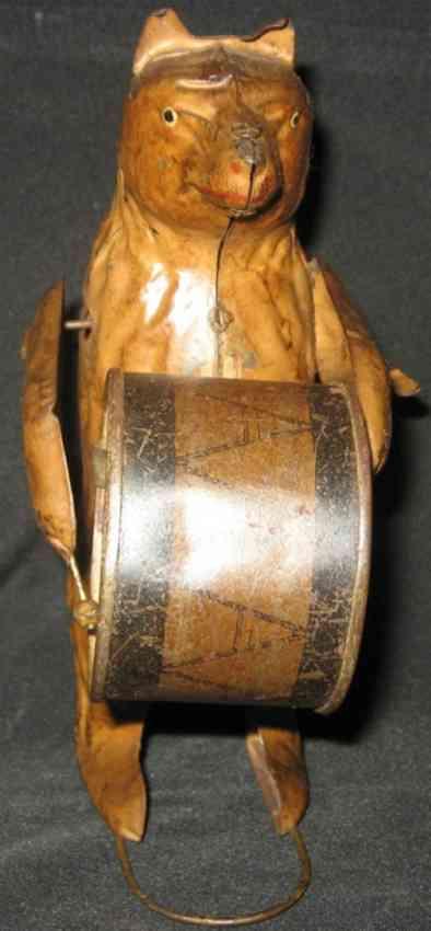 guenthermann blech spielzeug baer mit trommel