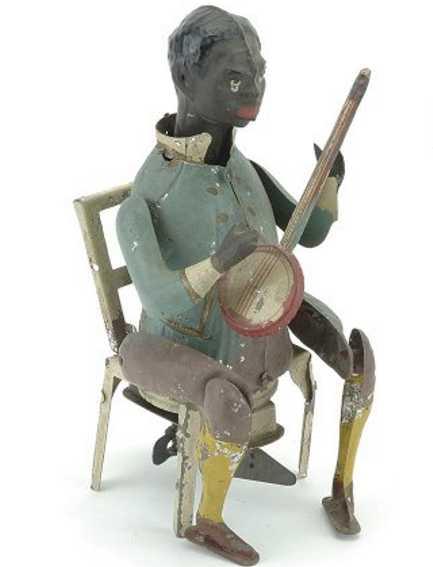 guenthermann blech spielzeug schwarzer banjo spieler
