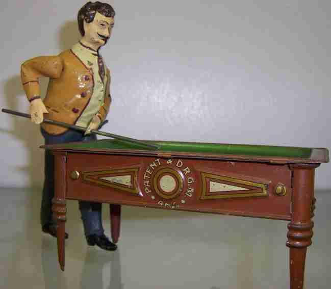 guenthermann blech spielzeug billiardspieler